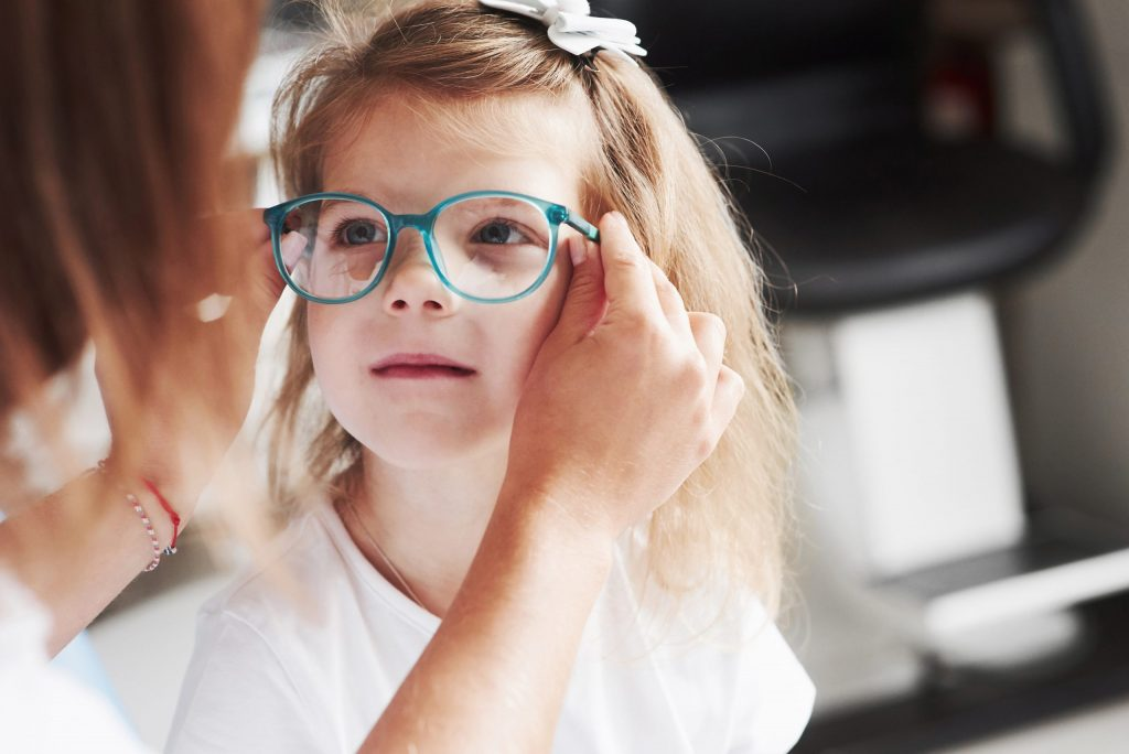 Girl getting glasses